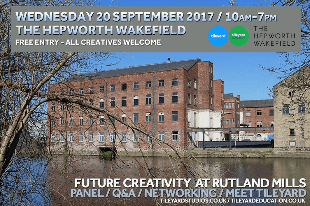 Tileyard announce free networking event for yorkshire creatives to support future creativity at rutland mills