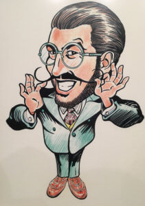 Jonathan Straight Caricature new IVE trustee