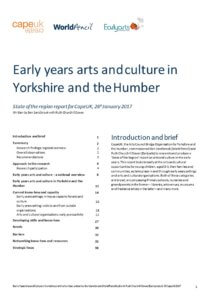Early years arts and culture in Yorkshire and the Humber