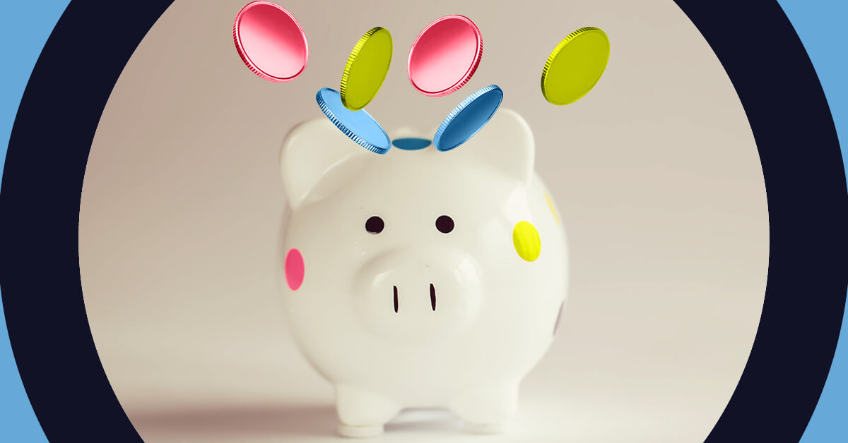 Better creativity means better business colourful piggybank