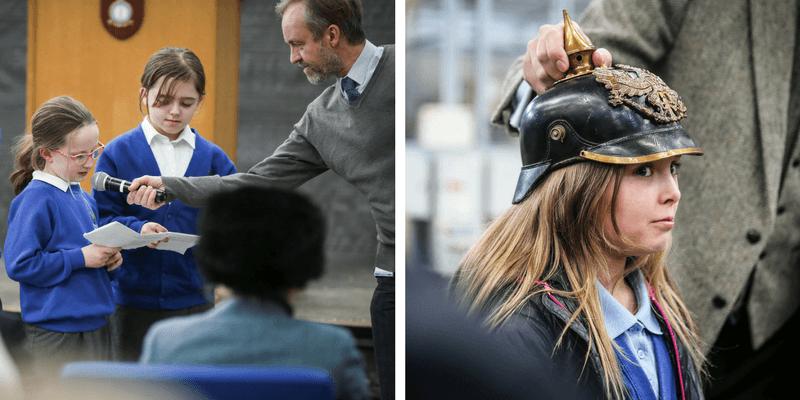 Never such Innocence RAF Leeming IVE Girl wearing german military helment