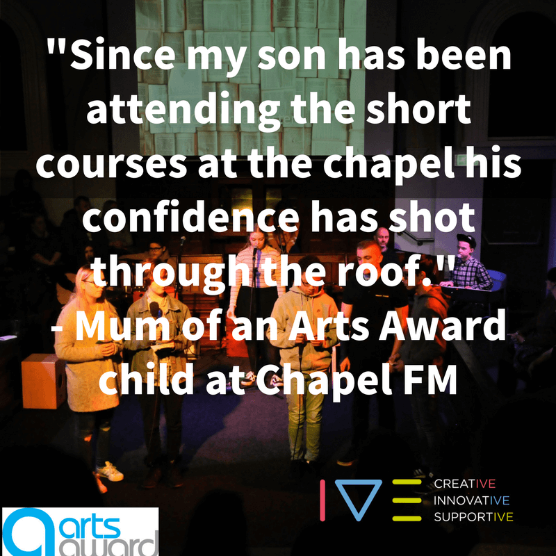 'Since my son has been attending the short courses at the chapel his confidence has shot through the roof.