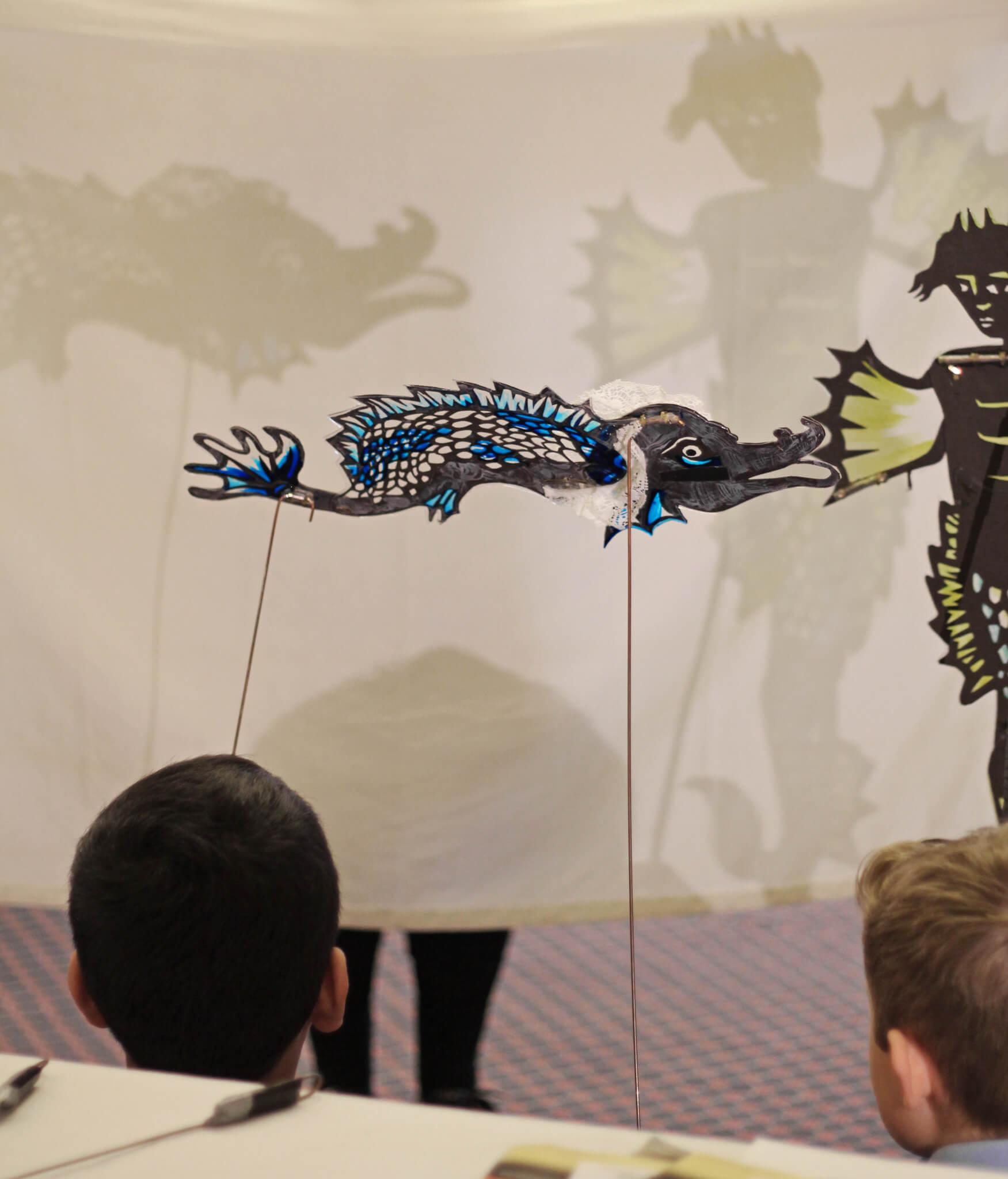Indigo Moon Puppet Theatre at an Artsmark Celebration Event