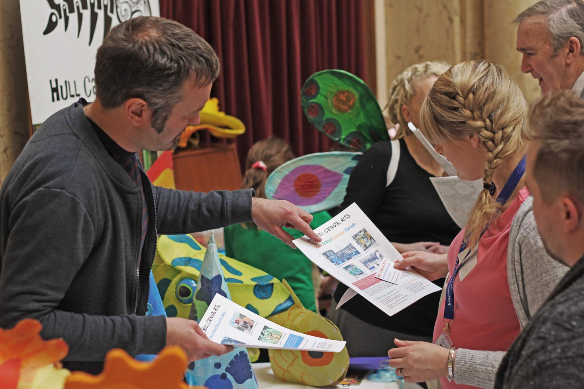 Art materials at an Artsmark Celebration Event