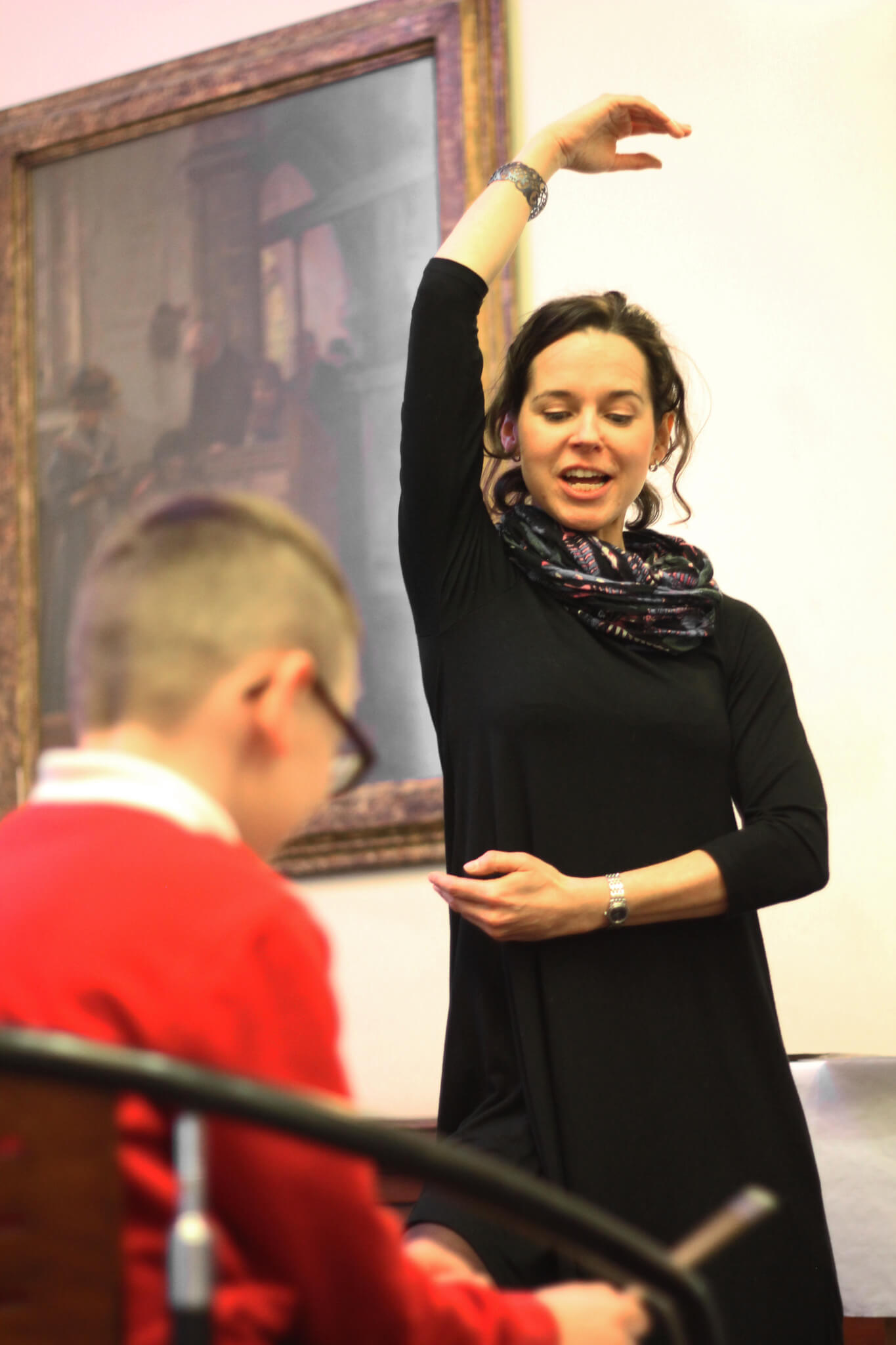 Northern Ballet instructor at an Artsmark Celebration Event