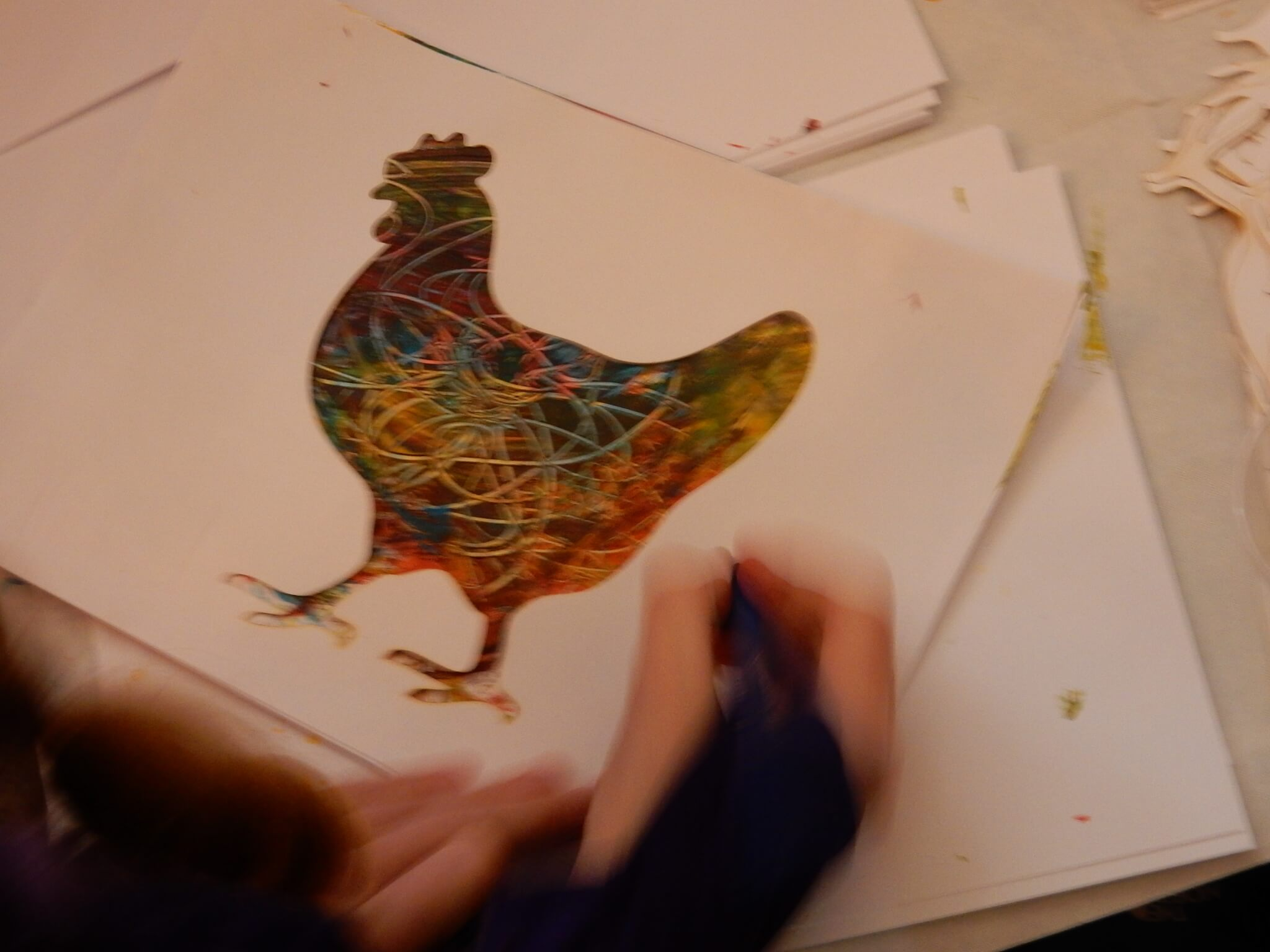 Painted Chicken at an Artsmark Celebration Event