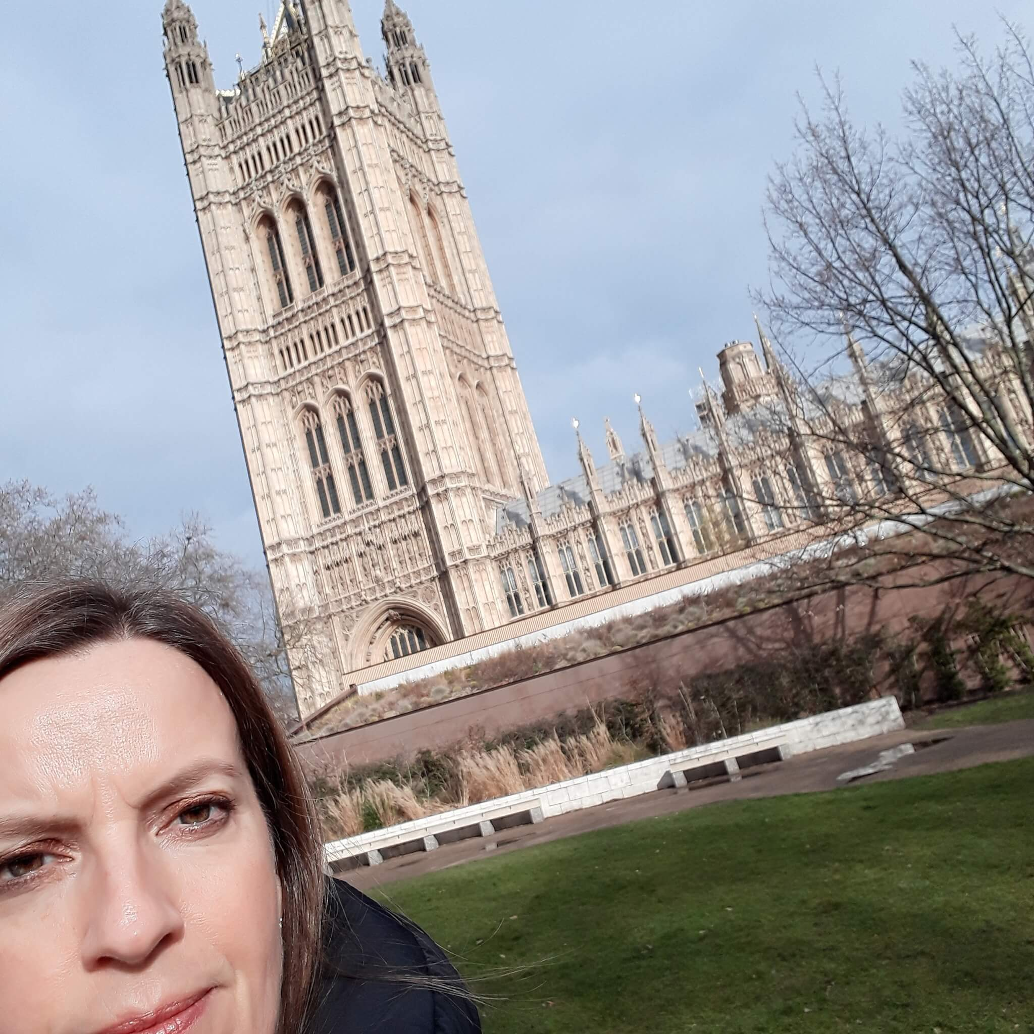 Sarah Mumford at the Houses of Parliament