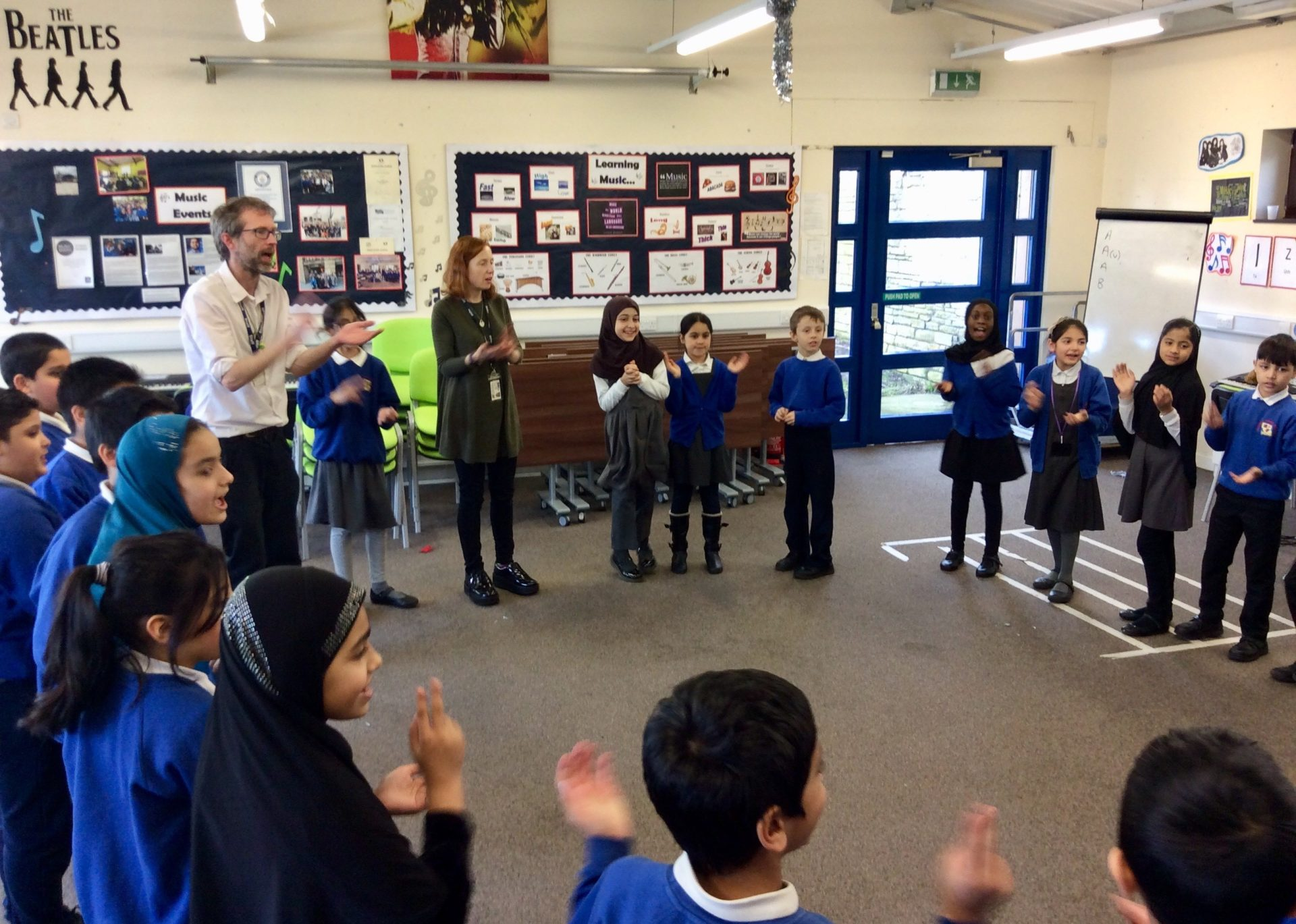 Feversham Primary School Case Study Children Clapping