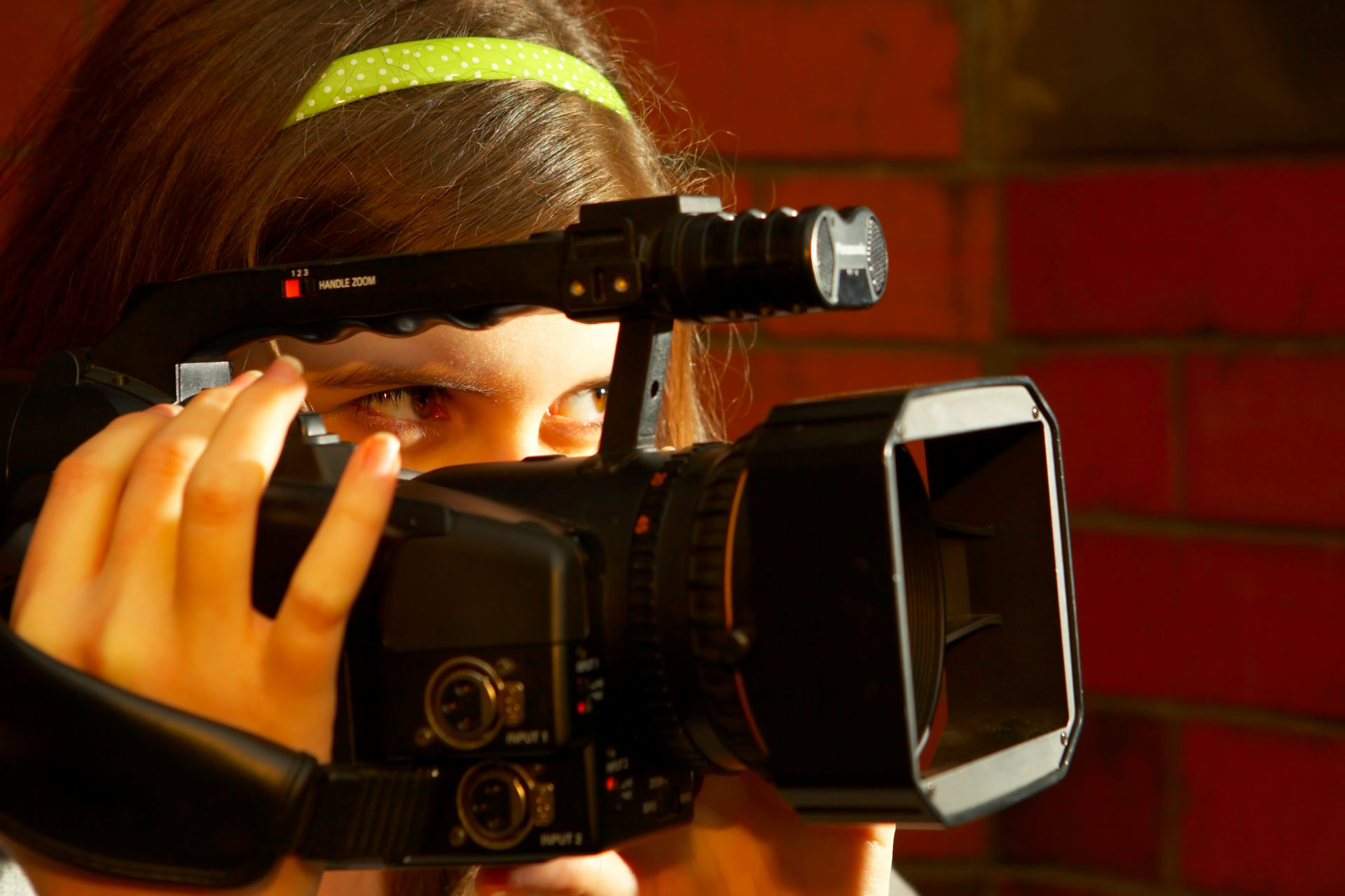 Girl Filming with camera