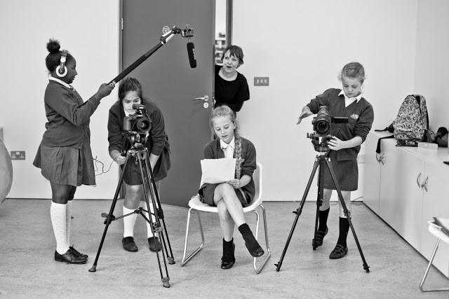 Gomersal Primary Arts Council making a film