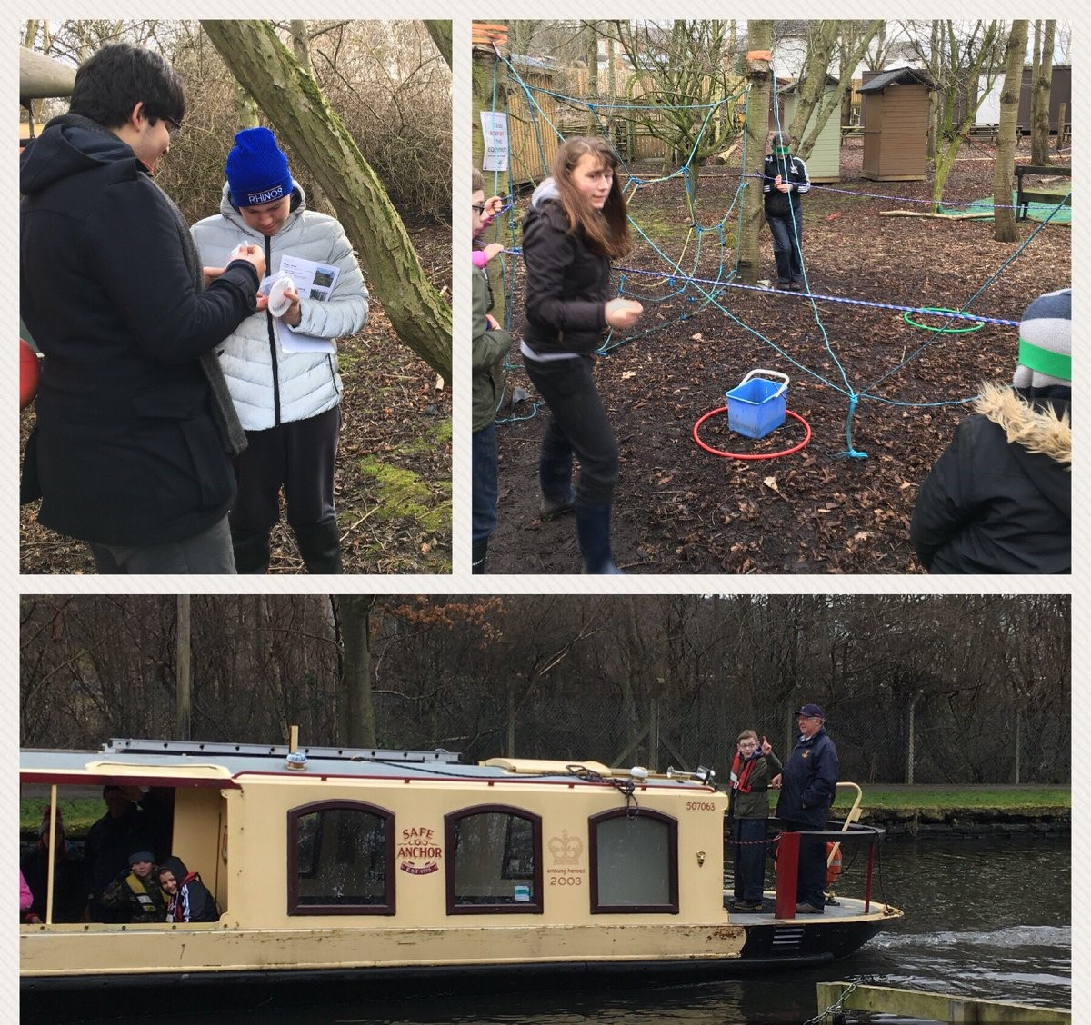 Image 7, 8. 9 Young People from West Leeds researching visitor experience at Little Deer Wood in Mirfield with Canal Connections, geocaching, team building and steering a canal boat.
