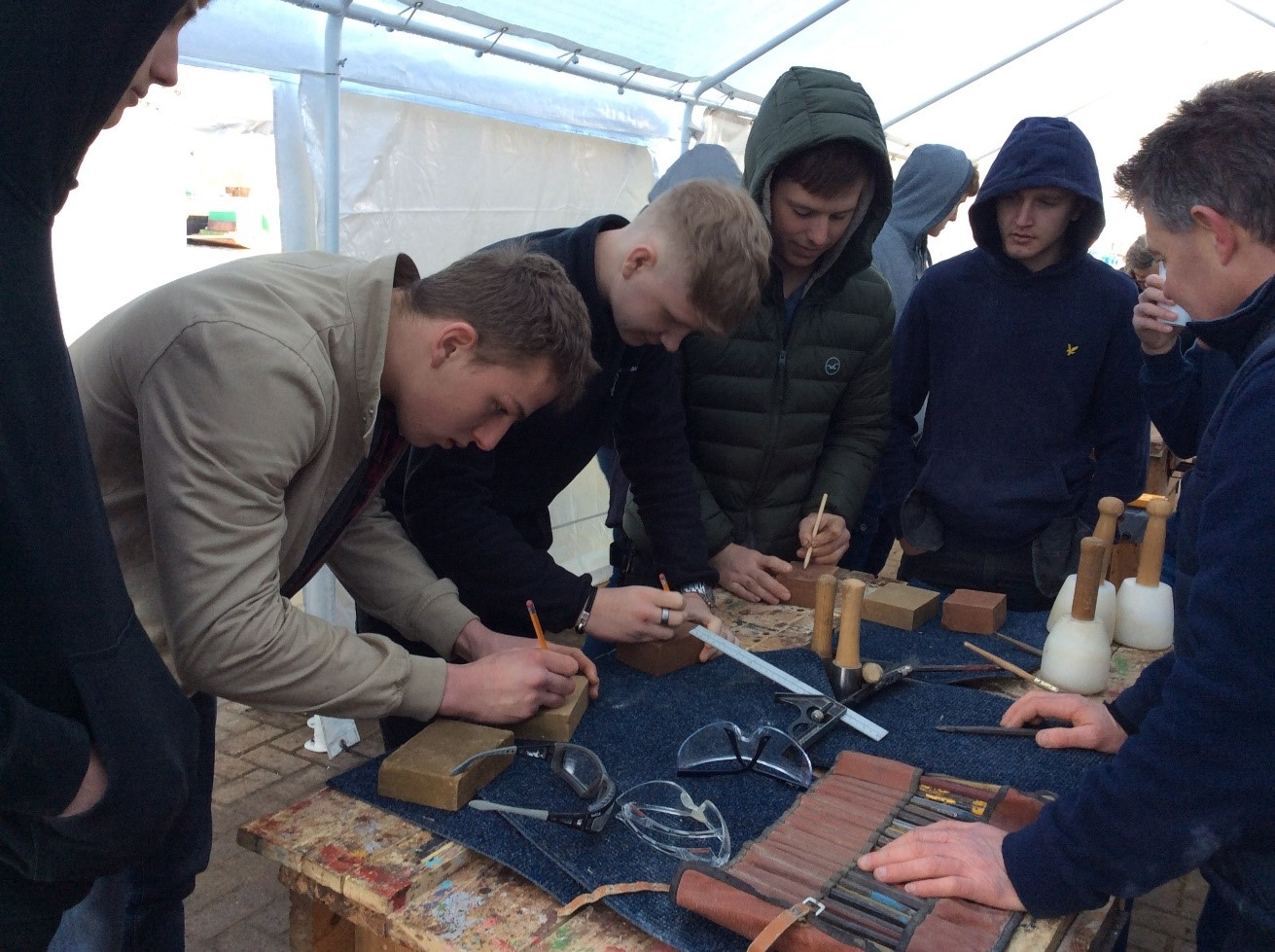 Masonry Taster Session at Sobriety Project Heritage Roadshow