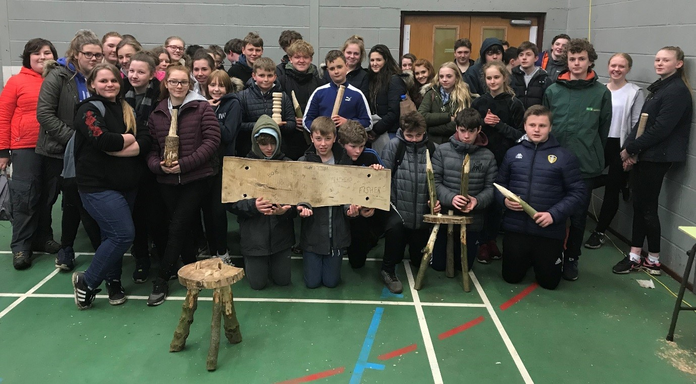 Young People show their woodworking skills at North Yorkshire Youth's Taster Session