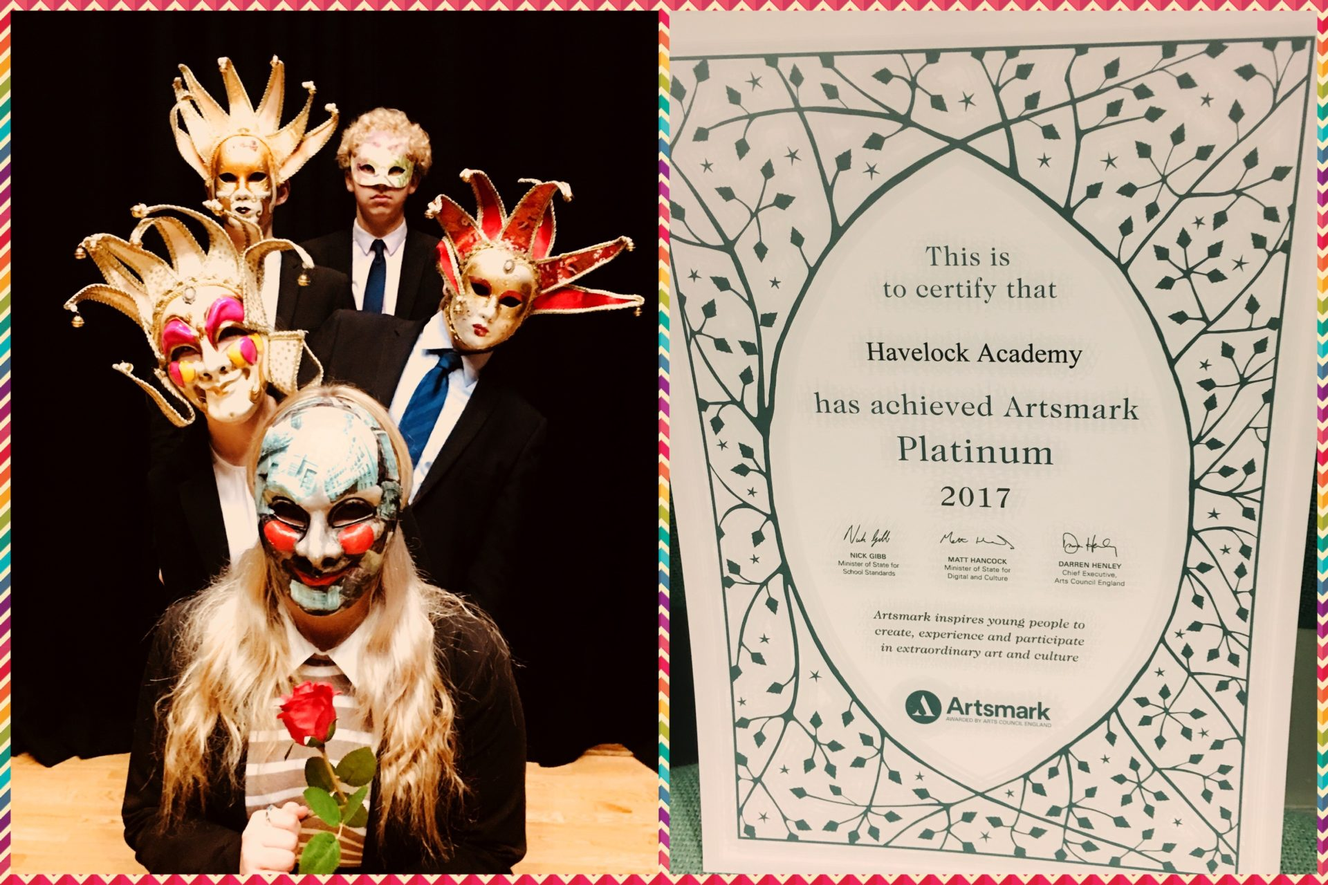 Havelock Academy & David Ross Education Trust Artsmark Platinum Award