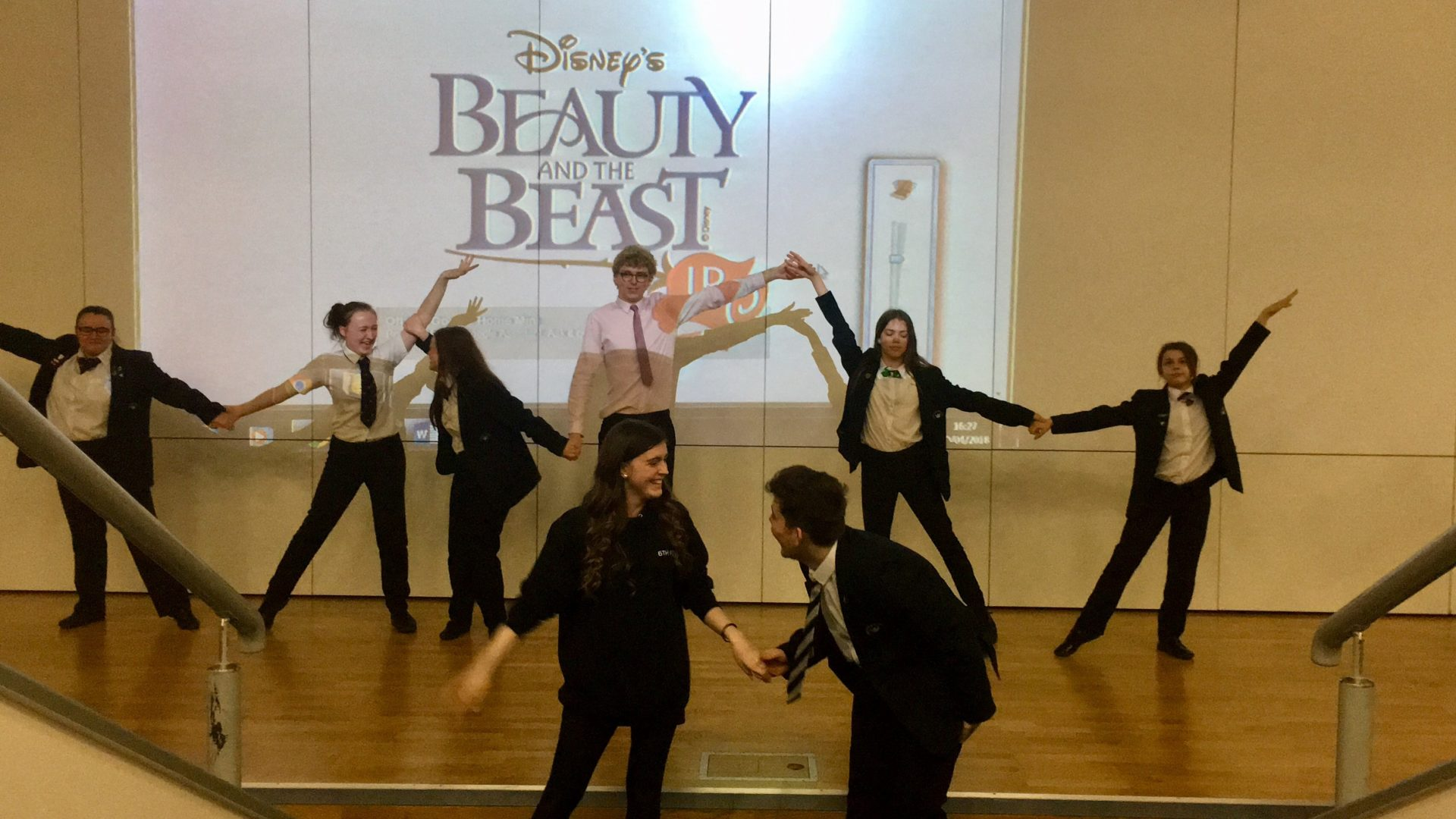 Havelock Academy & David Ross Education Trust Pupils Practicing for Beauty & the Beast