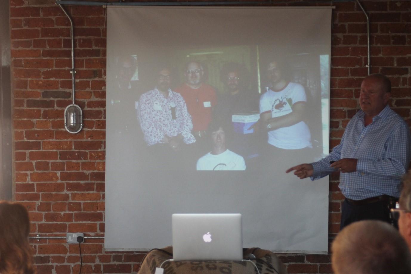 Ian Livingstone founder of Games Workshop at IVE Dinner Digestif