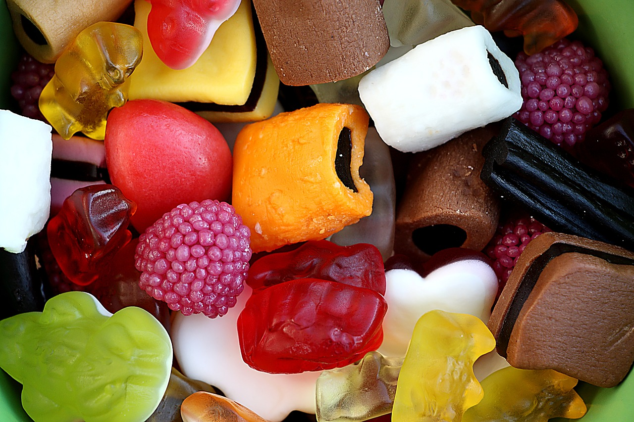 Selection of sweets including liquorice