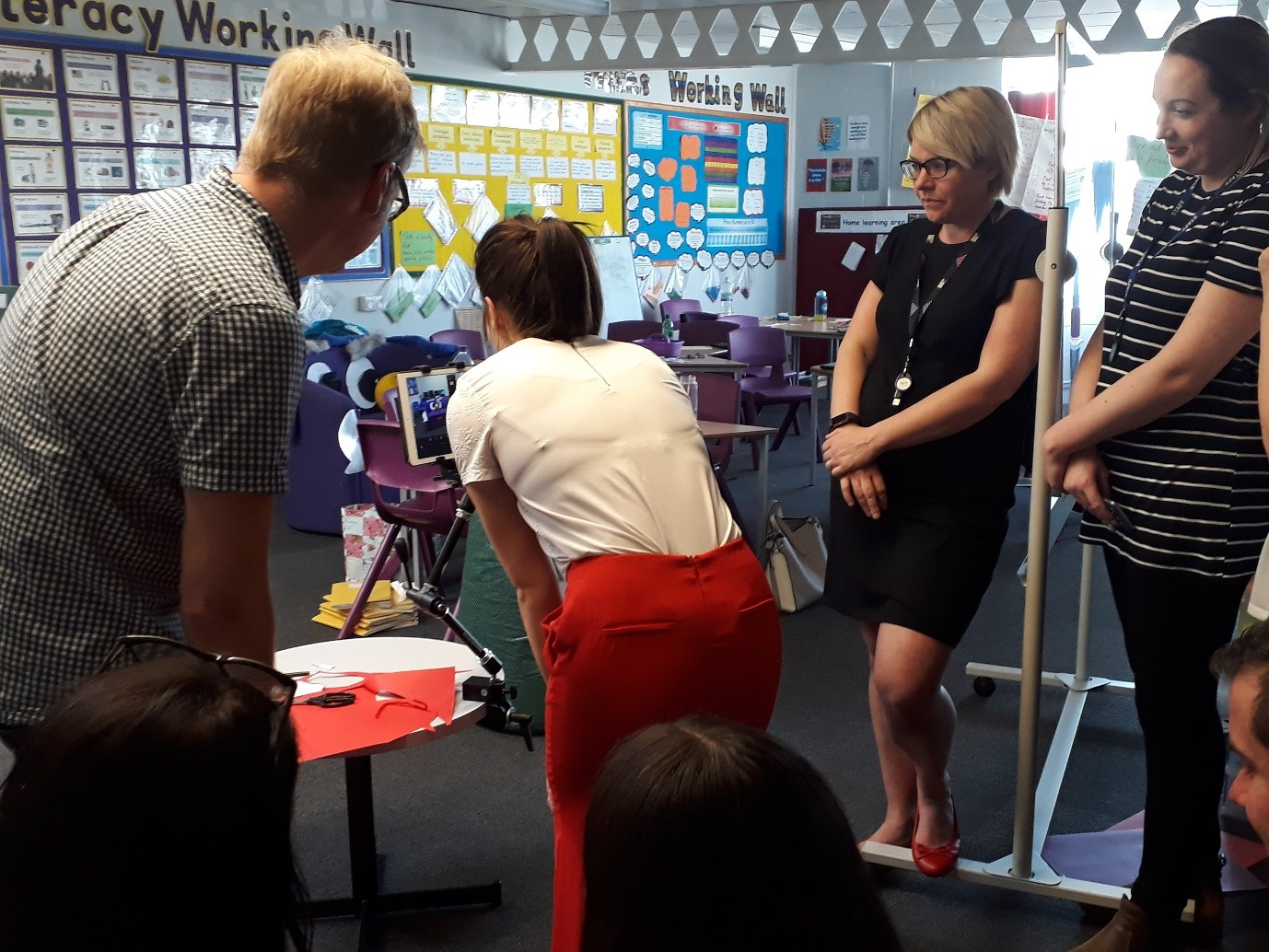 Hull No Limits teachers filming a video