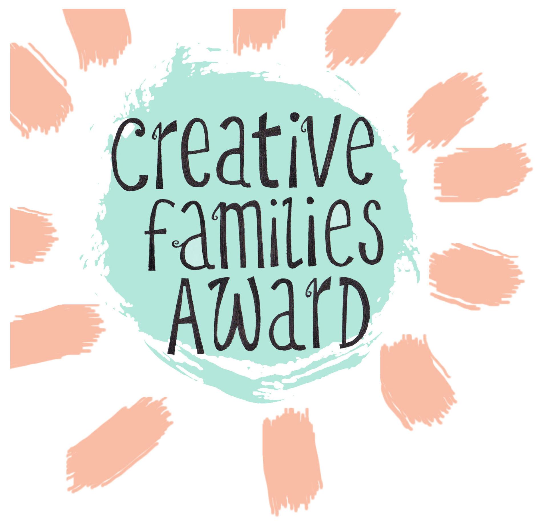Creative Families Award sunburst logo