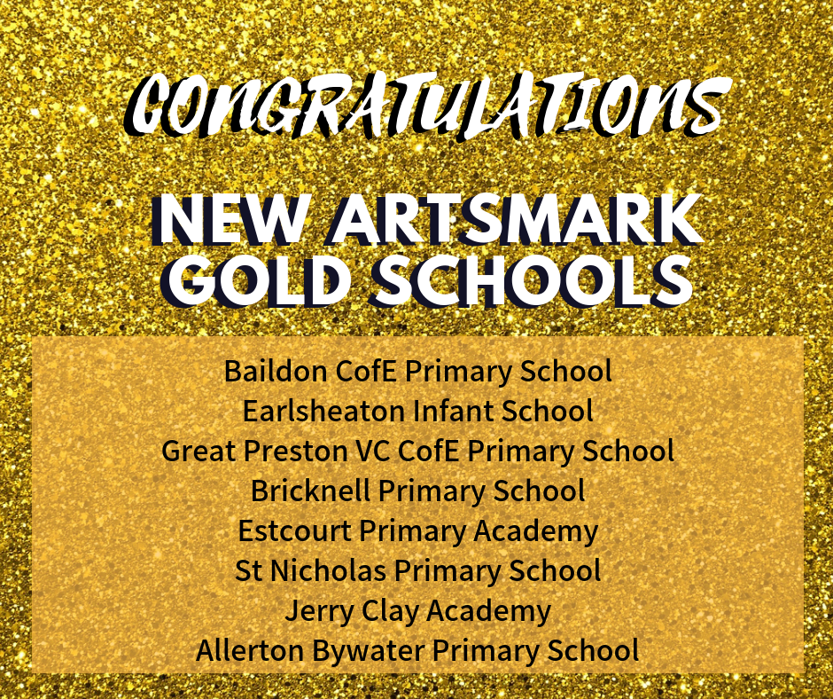 Congratulations to the new Artsmark gold schools