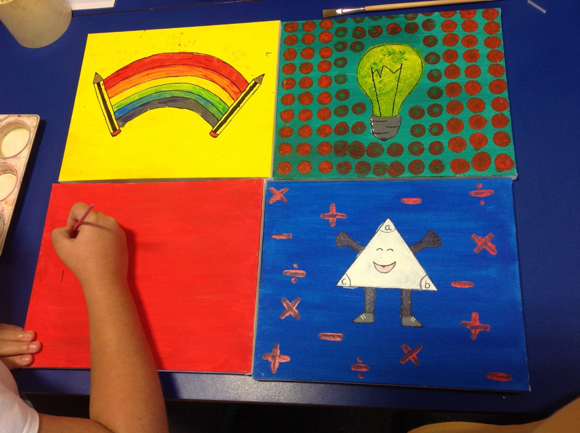 Andy Warhol Inspired Art at The Grange Primary School