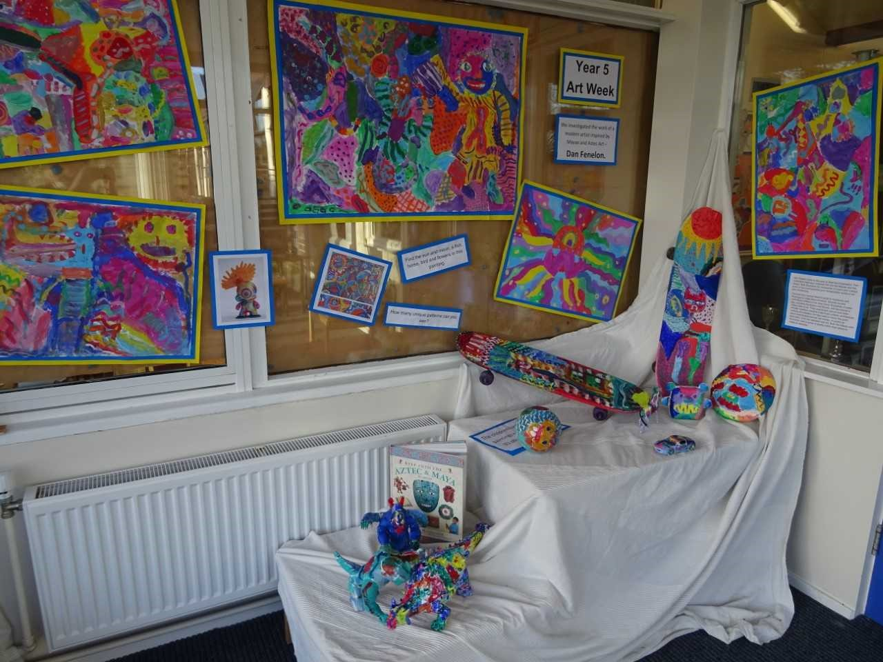 Very colourful Artwork at Wavell Junior School