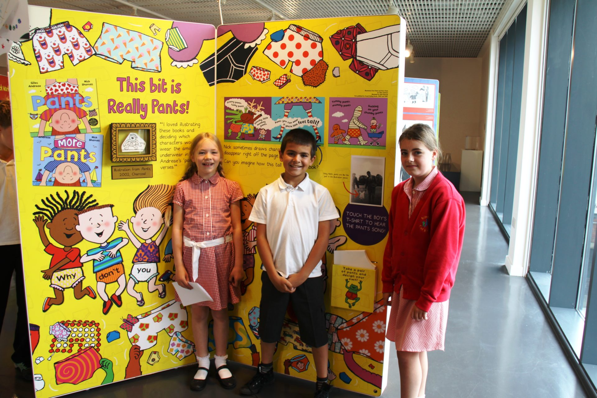 Brierley Church of England Primary pupils at Nick Sharrat exhibition