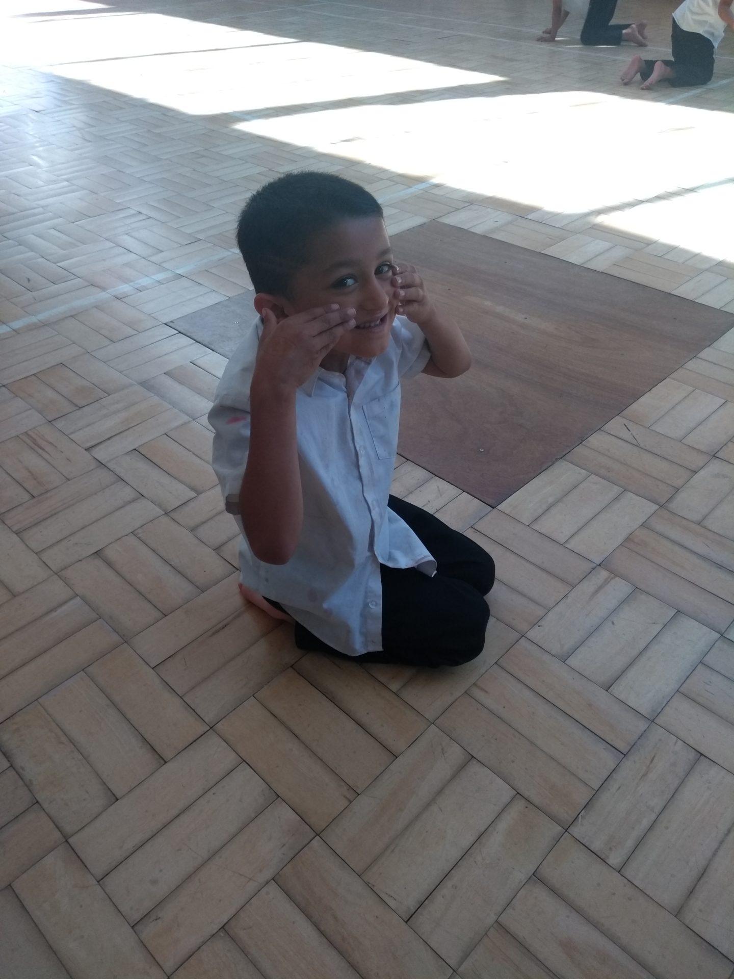 Green Lane Primary Pupil practising dance