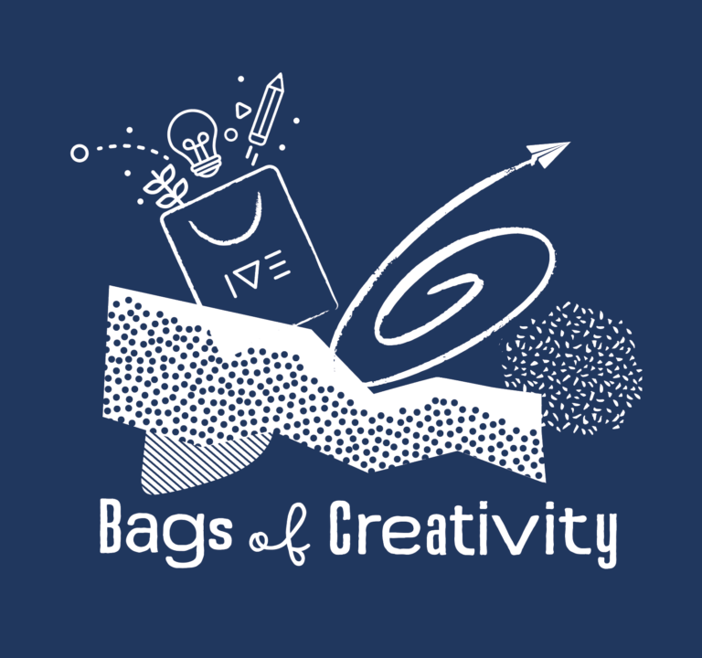 Bags of Creativity logo Navy 12-16