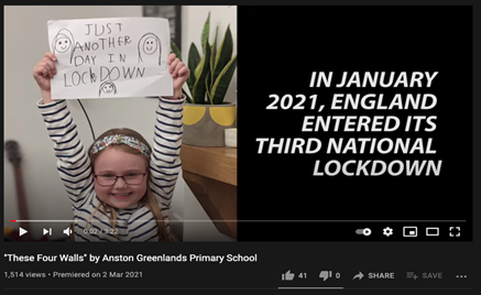 Clipping of YouTube video 'These Four Walls' by Anston Greenlands Primary School
